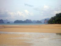 Great views from Koh Yao Noi across to Krabi Bay